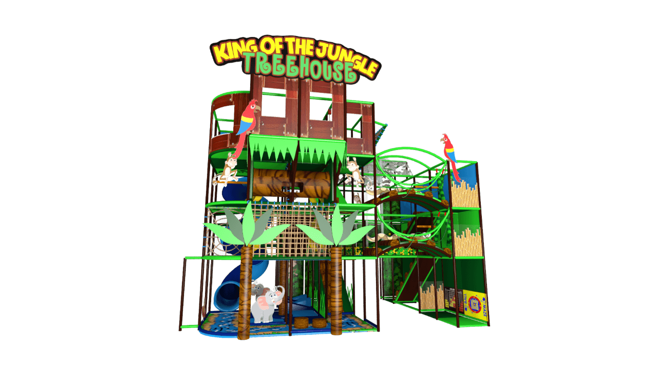 Tree-house jungle indoor playground soft play centre