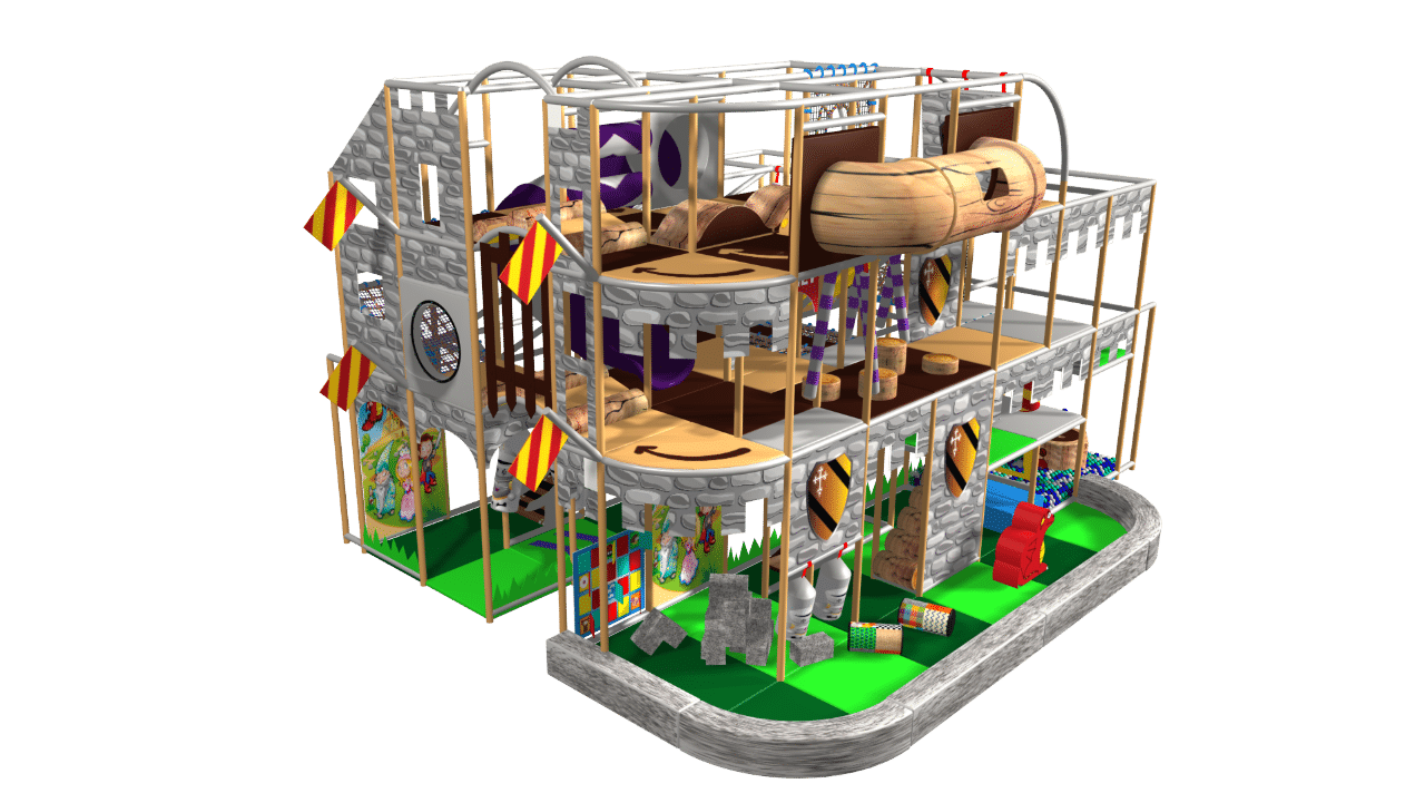 Fantasy castle indoor playground soft play design