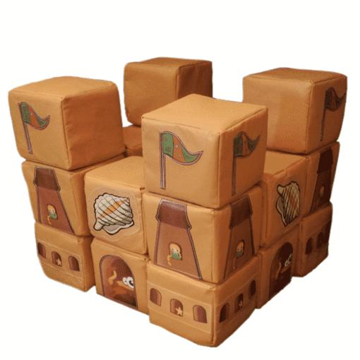 Beach sand castle theme building blocks soft play indoor playground equipment
