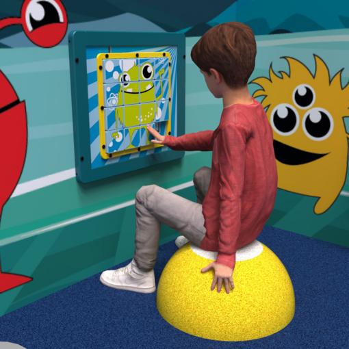 Alien monster theme logic puzzle activity panel interactive features