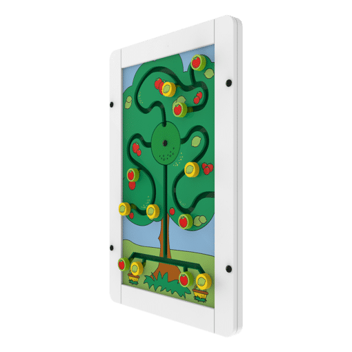 Interactive wall panel sorting activity tree