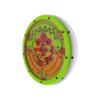 Green white spinning activity wheel marble puzzle interactive features