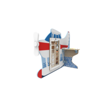 Seaplane Arctic Theme Interactive Feature Play Structure with Activity Panels