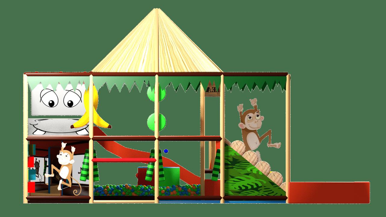 Jungle indoor playground soft play design
