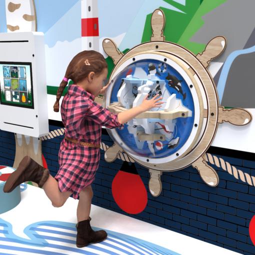 Arctic theme activity wheel interactive features
