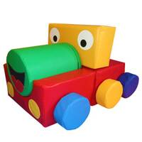 Train locomotive soft play shapes puzzle block indoor playground equipment