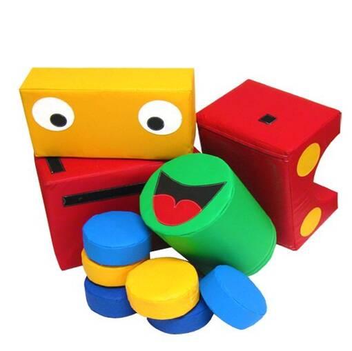 Train locomotive soft play shapes puzzle block indoor playground equipment