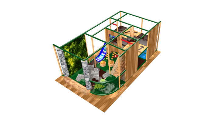 Adventure indoor playground soft play design