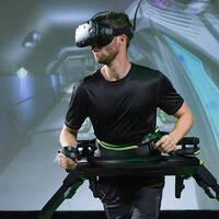 Virtuix Omni Virtual Reality VR Head Set Immersive 360 Degree Multiplayer Co-Op Game Play