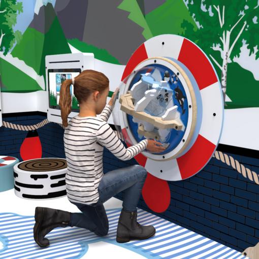 Arctic theme life saver activity wheel back plate