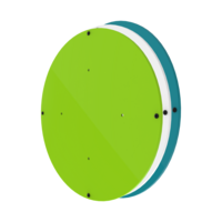 Activity Wheel Back Plate Blue Green White Wall Mounted Interactive Features