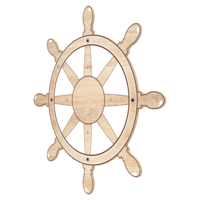 Arctic Theme Captain's Wheel Activity Wheel Back Plate