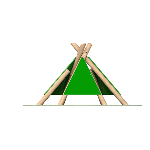 Wigwam teepee outdoor playground equipment timber frame