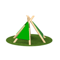 Wigwam Teepee Outdoor Playground Equipment Timber Frame