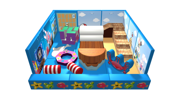 Ocean pack away demountable soft play design