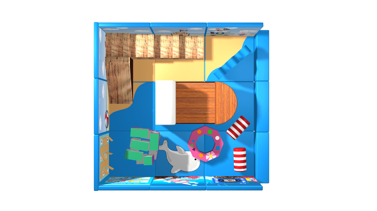 Ocean pack away demountable soft play design