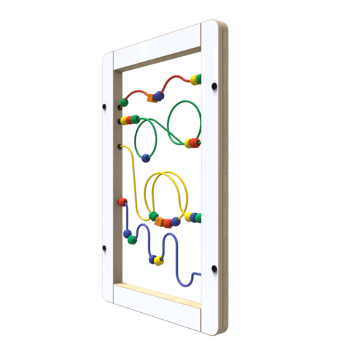Wire beads interactive feature activity panel wall mounted