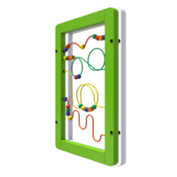 Green White Wire Beads Activity Panel Wall Mounted Interactive Feature