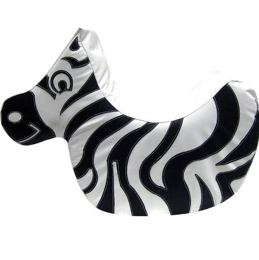 Zebra soft play rocker indoor playground equipment