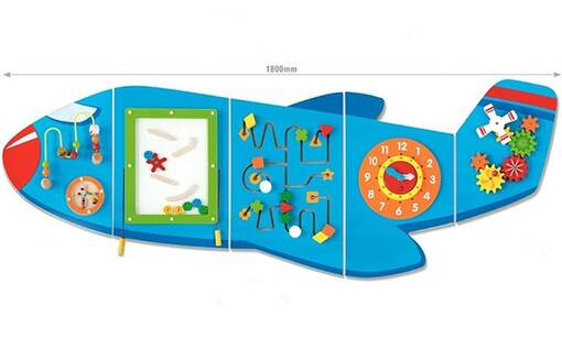 Airplane plane theme interactive wall mounted activity panel sensory room soft play indoor playground equipment