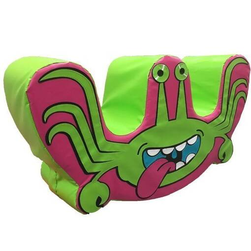 Alien monster soft play rocker shape indoor playground equipment