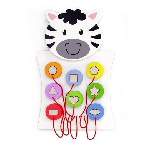 Zebra animal theme interactive wall mounted activity panel sensory room soft play indoor playground equipment