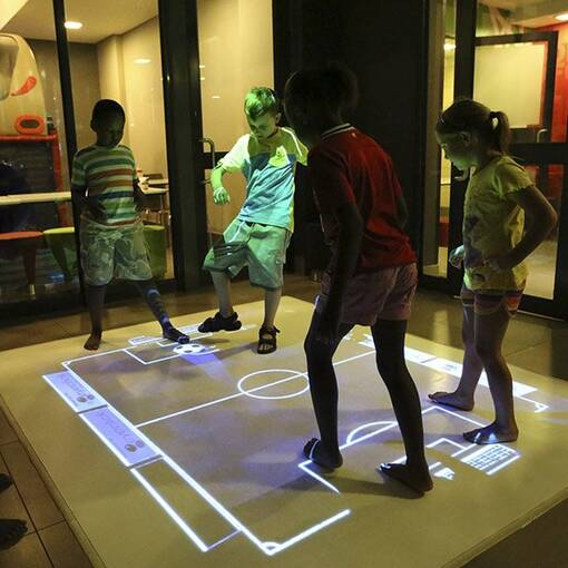 Interactive game floor projector soft play indoor playground feature