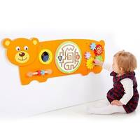 Bear Animal Theme Interactive Wall Mounted Activity Panel Sensory Room Soft Play Indoor Playground Equipment