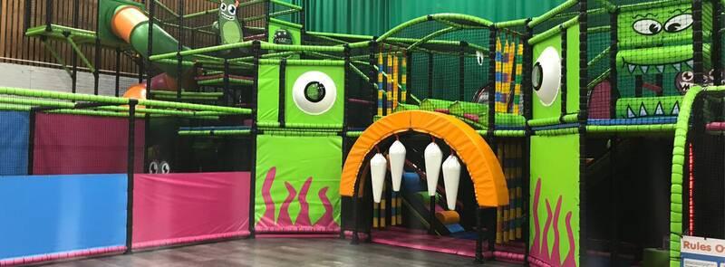 Alien indoor playground monster soft play centre design