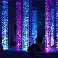 Light Up Bubble Tube Sensory Room Equipment Calming Therapy Learning Features