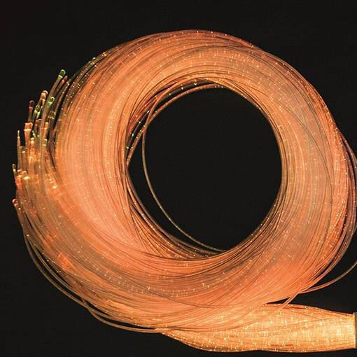 Orange yellow red fibre optic wires sensory room equipment