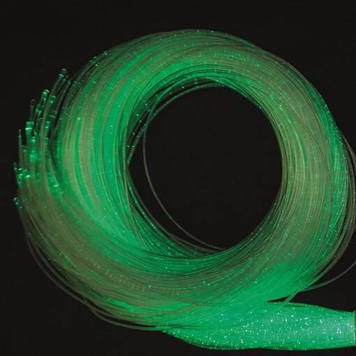 Green lime fibre optic wires sensory room equipment