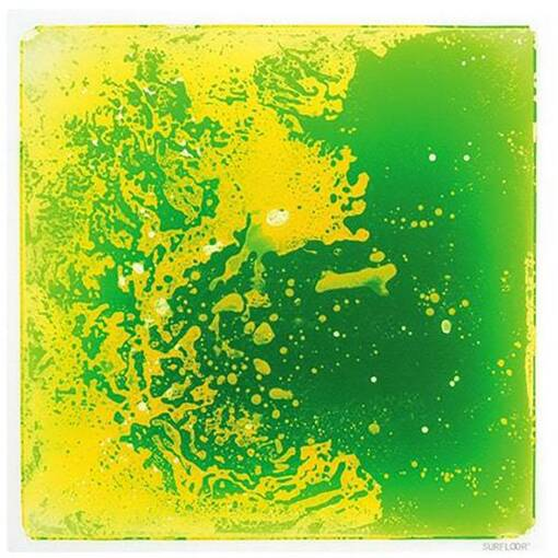 Green lime tactile gel tile sensory room soft play indoor playground equipment