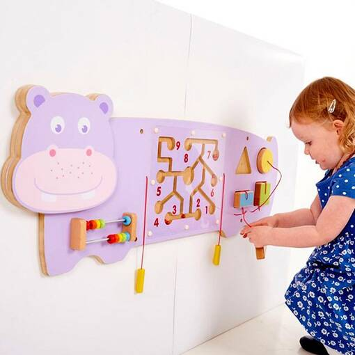 Hippo theme animal wall mounted activity panel indoor playground soft play sensory room equipment
