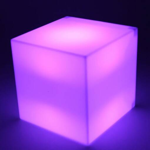 Pink purple lilac led light up cube table seat sensory room equipment