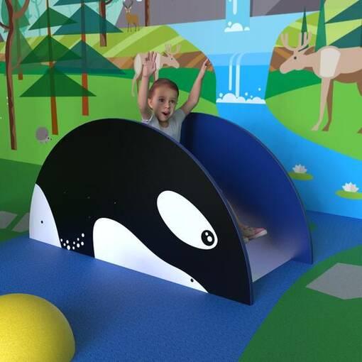 Indoor slide for activity corners