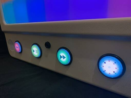 Rhapsody music interactive light panel multi coloured sensory equipment wall mounted