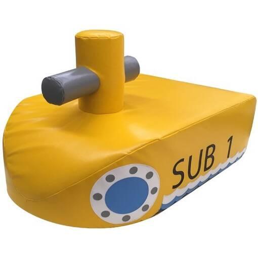 Yellow submarine soft play rocker shape indoor playground equipment