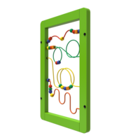 Green Wire Beads Activity Panel Wall Mounted Interactive Feature