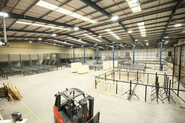 Installation of soft play, indoor playgrounds and trampoline parks