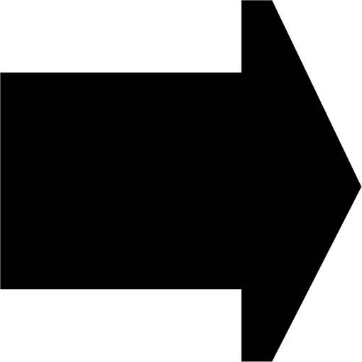 Soft play & indoor playground directional arrow black