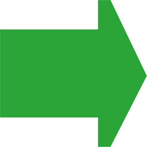 Soft play & indoor playground directional arrow bright green