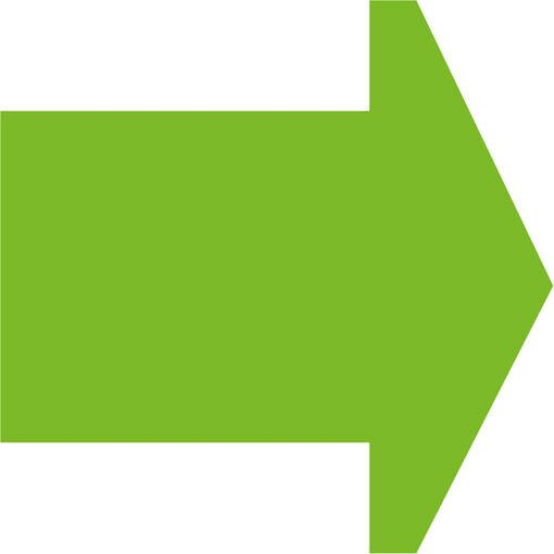 Soft play & indoor playground directional arrow lime
