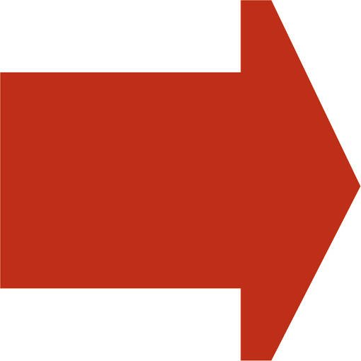 Soft play & indoor playground directional arrow orange