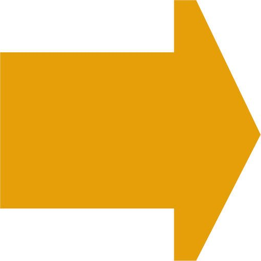 Soft play & indoor playground directional arrow yellow
