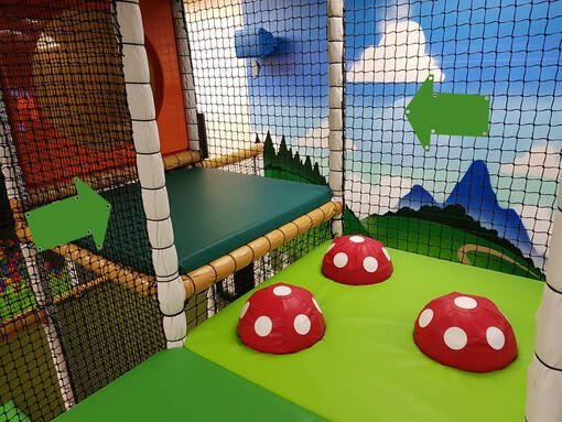 Soft play & indoor playground directional arrow