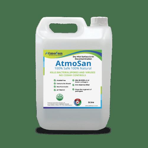 Biocide sanitising decontamination fluid fogger ulv cleaning