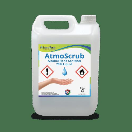 Hand sanitiser 70% alcohol liquid antibacterial