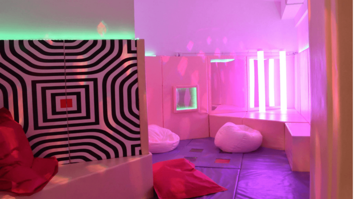 Sensory Room Design with LED Wall Panels, Bubble Tubes, Soft Play Features