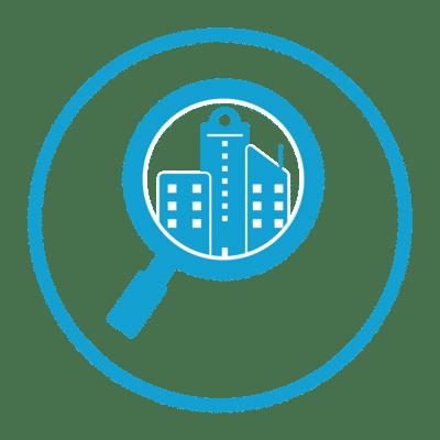 Building evaluation icon